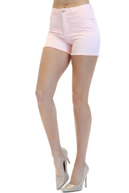BASIC COLOR WRINKLED SHORTS - orangeshine.com