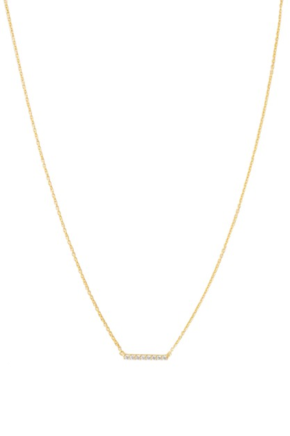 Crystal Horizontal Bar Necklace - orangeshine.com