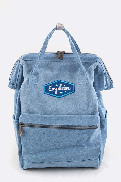 Explorer Patch Iconic Backpack - orangeshine.com