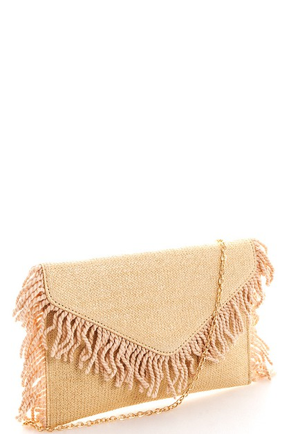 Chic Tassel Princess Envelope Clutch - orangeshine.com