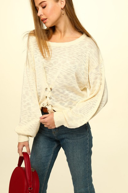 Oversized knit sweater  - orangeshine.com