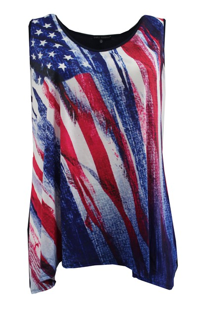 American Flag Tank Top - orangeshine.com