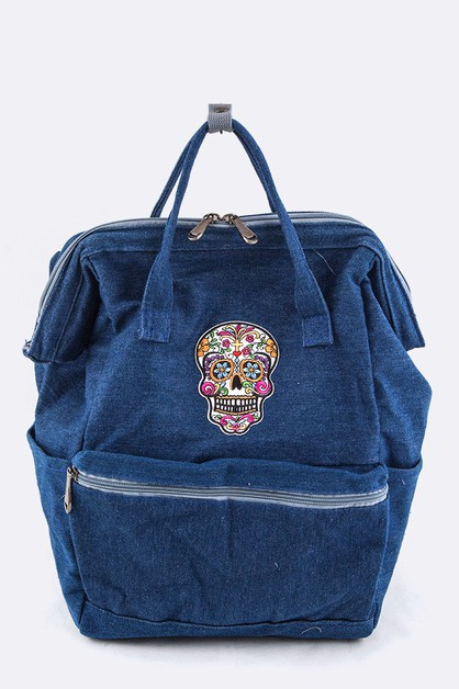 Skull Patch Iconic Backpack - orangeshine.com
