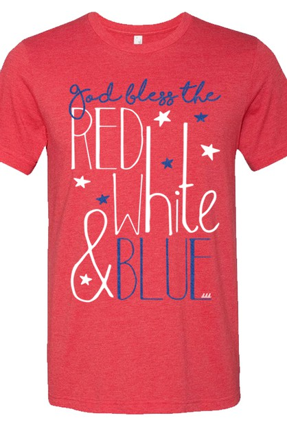 God Bless The Red White and Blue Tee - orangeshine.com