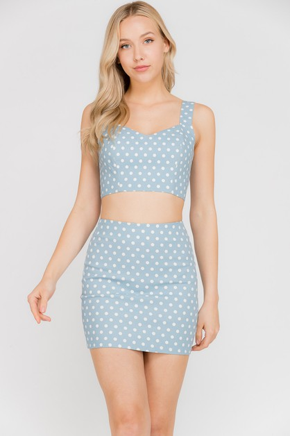 Polka Dots Crop Top - orangeshine.com