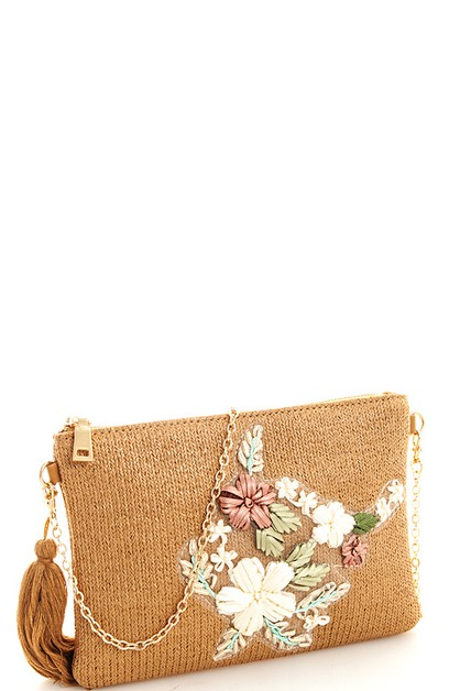 Trendy Woven Chic Clutch - orangeshine.com