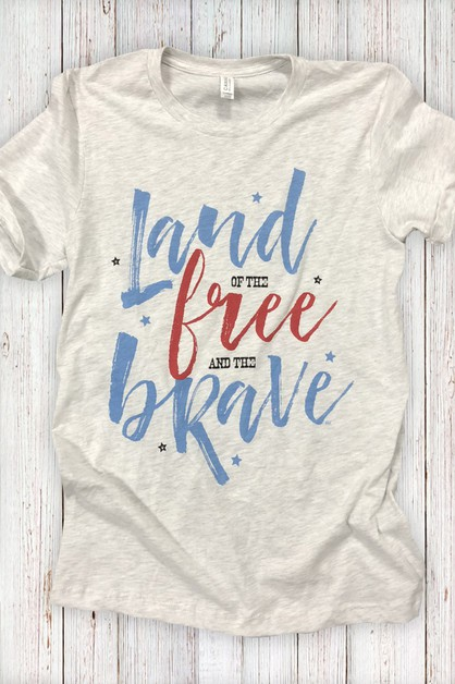 Land of the Free and the Brave Tee - orangeshine.com