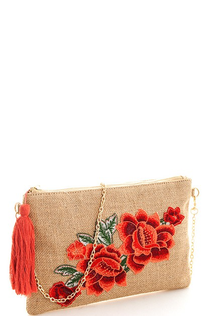 Chic Princess Rose Clutch - orangeshine.com