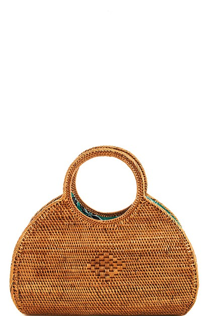 Chic Trendy Woven Natural Handbag  - orangeshine.com