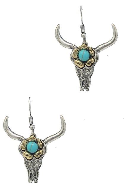 Loving you jewelry wholesale for clothing apparel shoes handbags western flower carved bull skull ear orangeshine aloadofball Choice Image