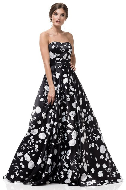 STRAPLESS SWEETHEART NECK  BALL GOWN - orangeshine.com