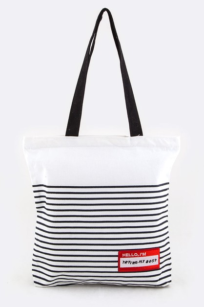 Trying My Best Cotton Tote Bag - orangeshine.com