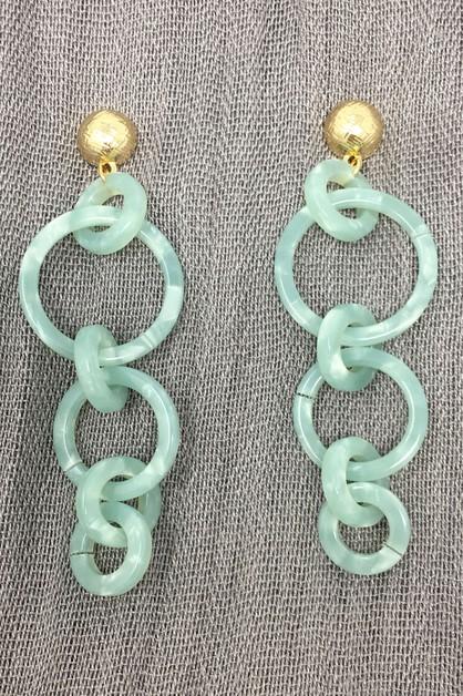Loving you jewelry wholesale for clothing apparel shoes handbags hoop link acetate dangle earring orangeshine aloadofball Choice Image
