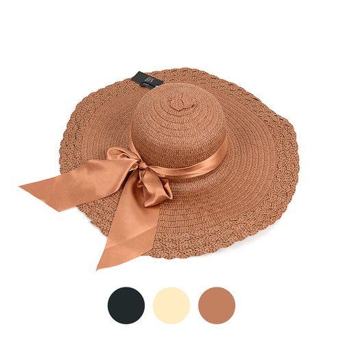 Women Wide Brim Bow Floppy Hat  - orangeshine.com