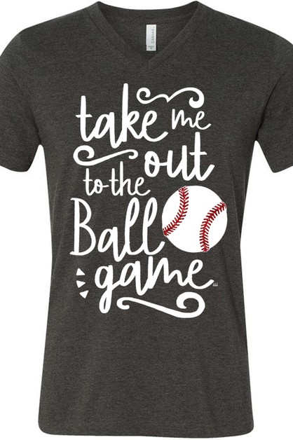 Take Me Out To The Ballgame V Neck - orangeshine.com