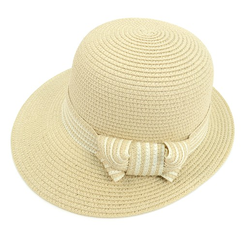 Women Straw Ribbon Band Floppy Hat - orangeshine.com