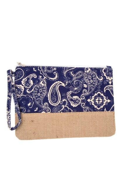 PAISLEY PATTER MINI POUCH BAG  - orangeshine.com