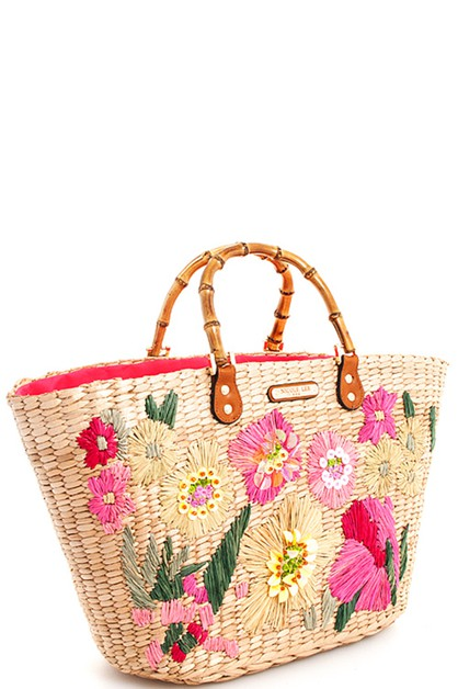 Nicole Lee  Straw Woven Shopper Bag - orangeshine.com