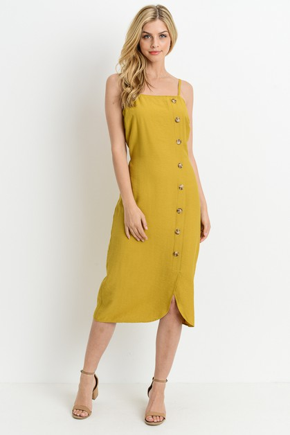 Button Midi Dress - orangeshine.com