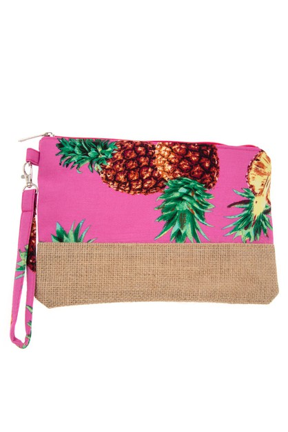 TROPICAL PINEAPPLE MINI POUCH BAG  - orangeshine.com