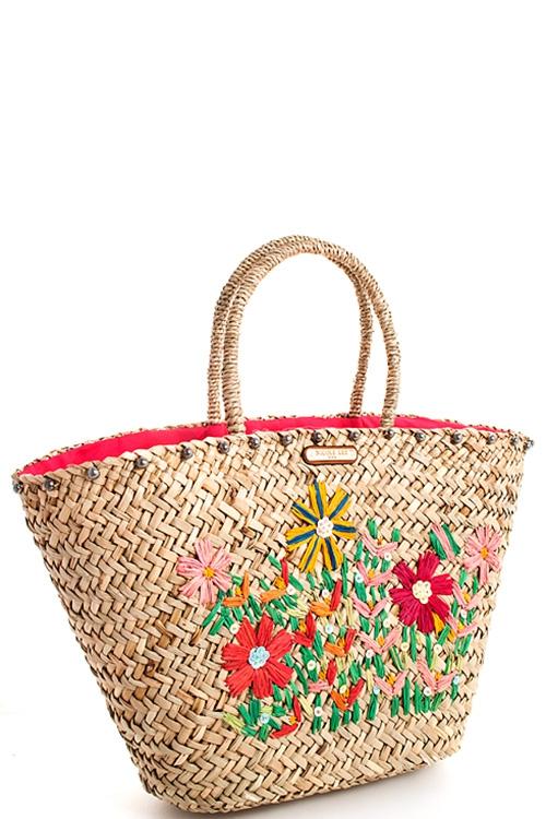 d6327eb0d87c JO BERRY Wholesale Nicole Lee Woven Straw Shopper Bag