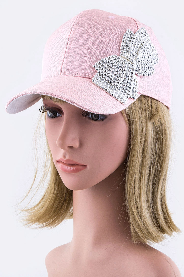 Crystal Bow Fashion Lurex Cap - orangeshine.com