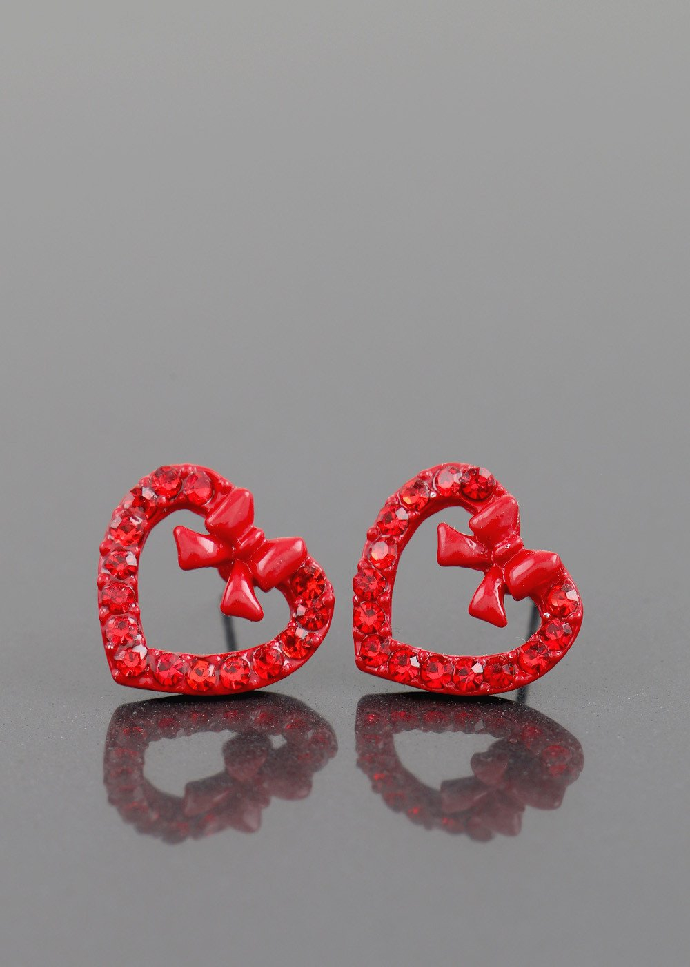 Red Heart Stud Earring - orangeshine.com