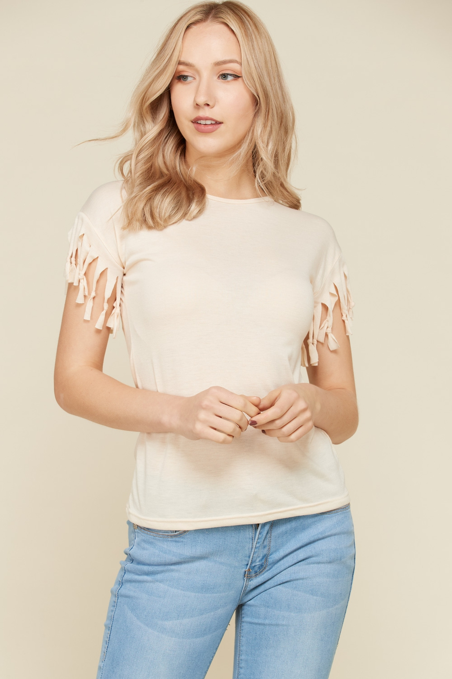 Fringe Detail Tops - orangeshine.com