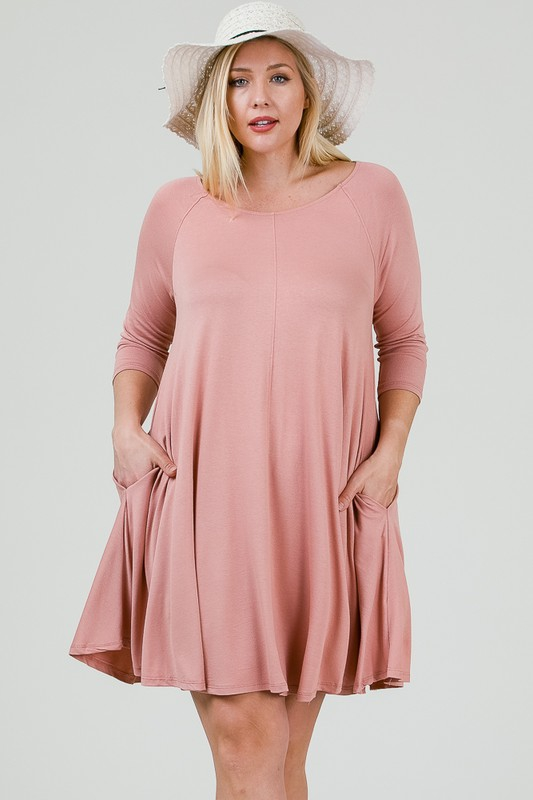 SOLID KNIT DRESS - orangeshine.com