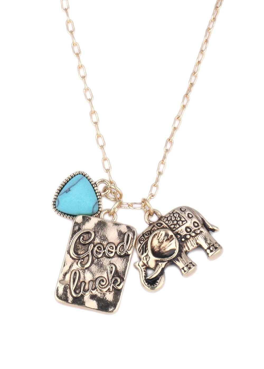 Good Luck Elephant Charm Pendant N - orangeshine.com