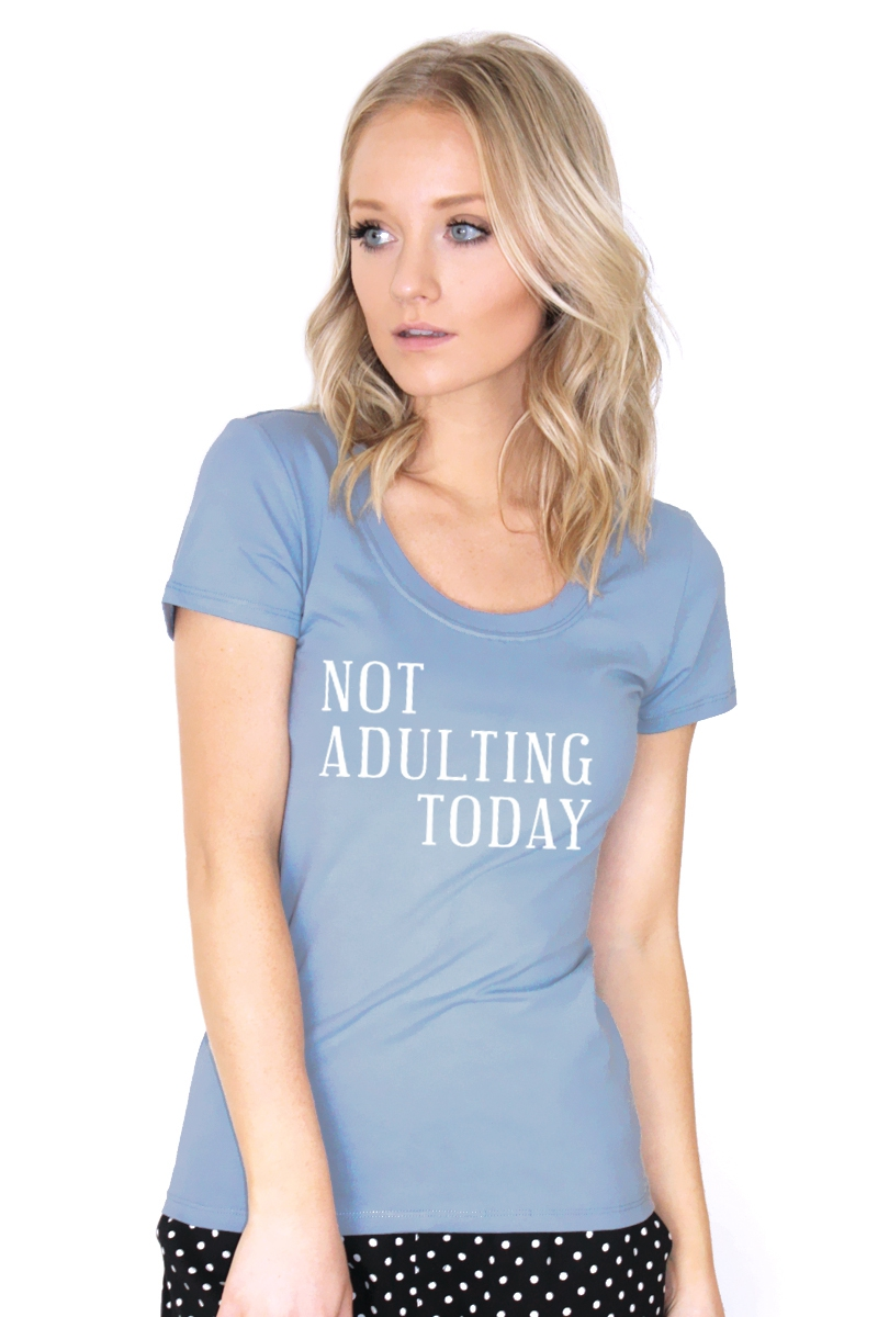 NOT ADULTING TODAY GRAPHIC TEE - orangeshine.com