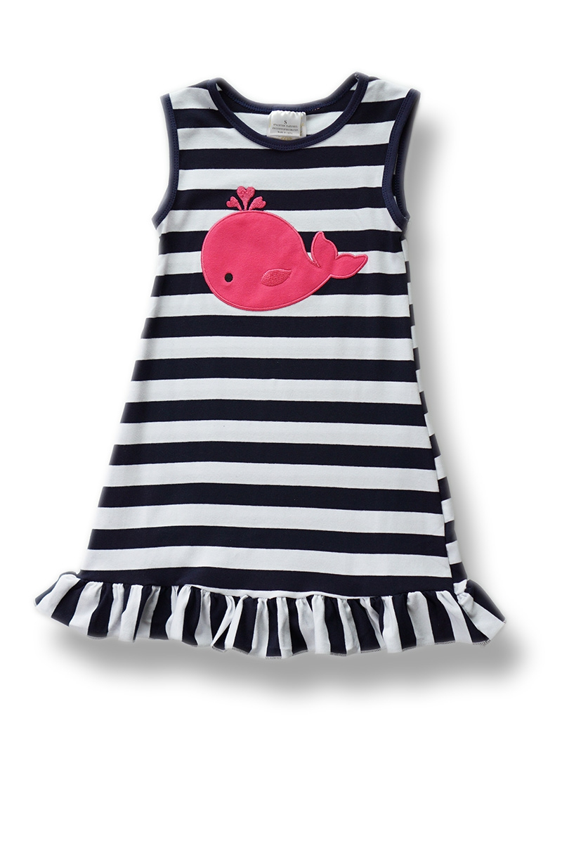 Black and white stripes pink whale - orangeshine.com