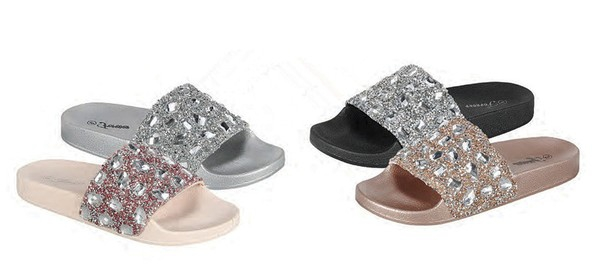 ABIE-05-FE Studded Slide Sandals - orangeshine.com