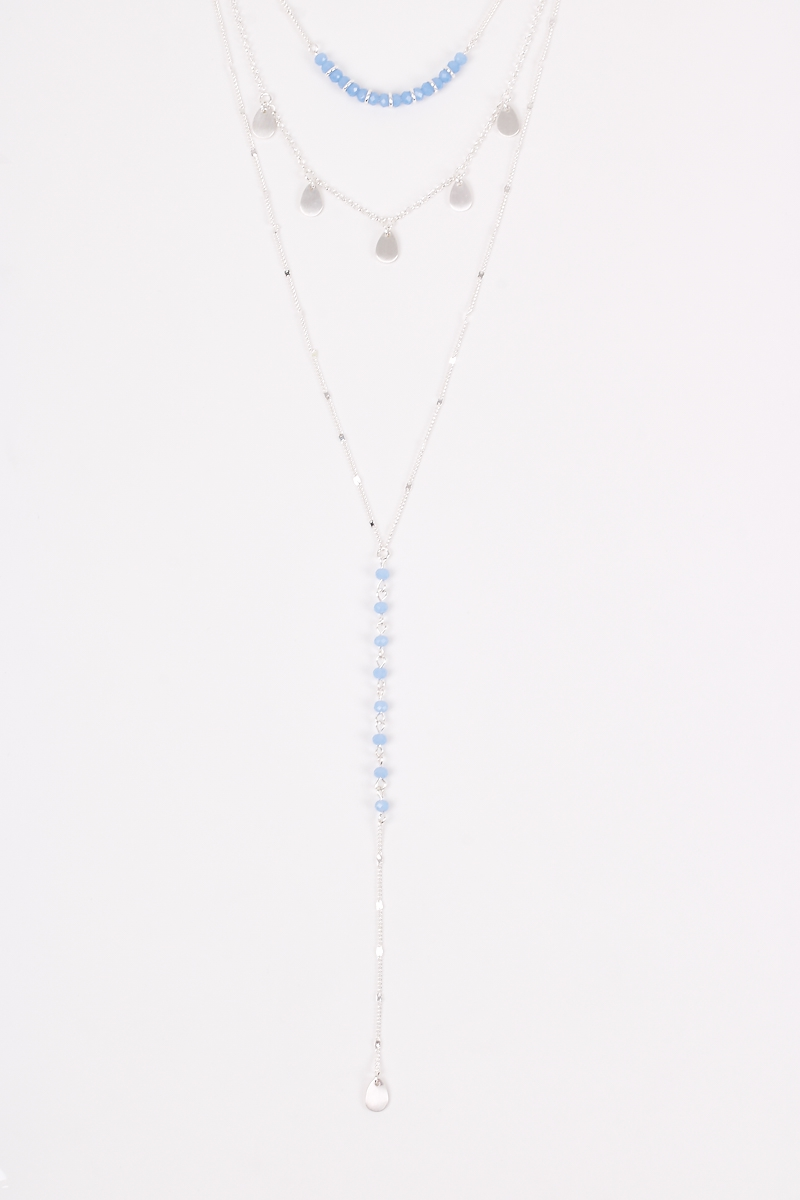 Layered Beaded Lariat Necklaces - orangeshine.com