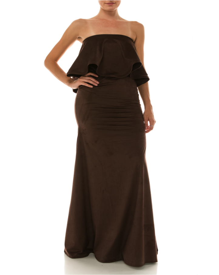 TALIA LONG DRESS IN ITALIAN DESIGN - orangeshine.com