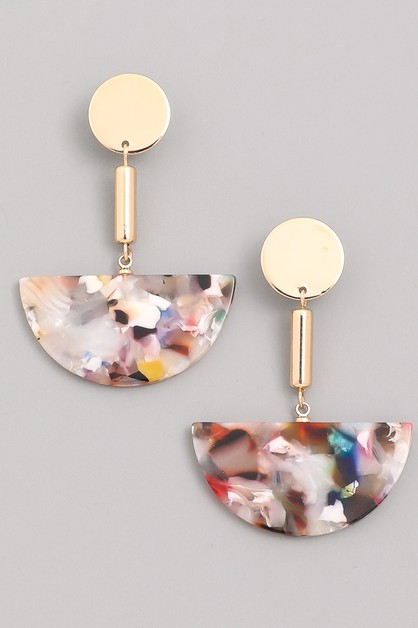 Mismatched Watercolor Dangle Earring - orangeshine.com