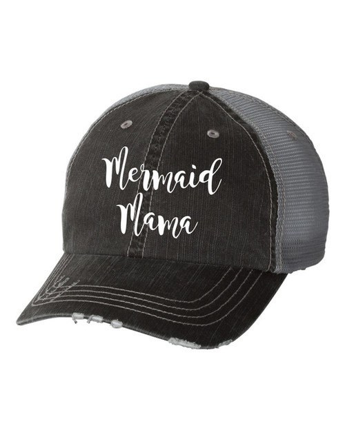 Mermaid Mama Trucker Hat - orangeshine.com