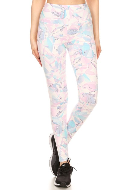 Slimming Look Sports Leggings Floral - orangeshine.com