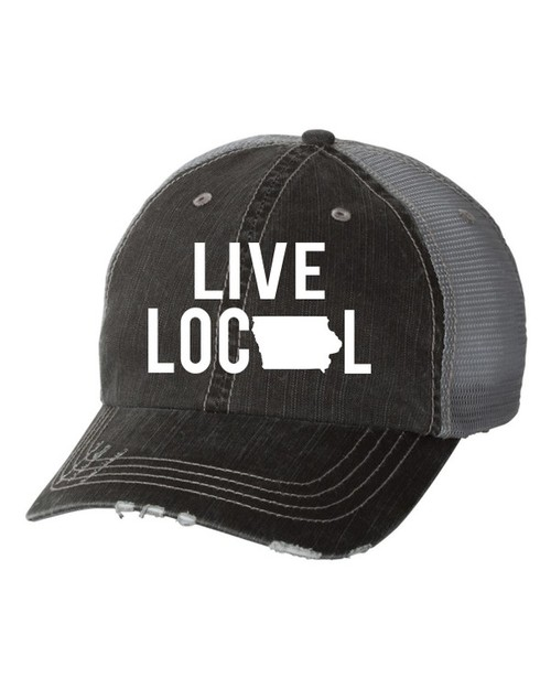 Live Local Iowa Trucker Hat - orangeshine.com