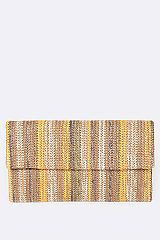 Rainbow Straw Clutch Bag - orangeshine.com