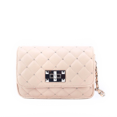 diamond quilted patterned crossbody - orangeshine.com