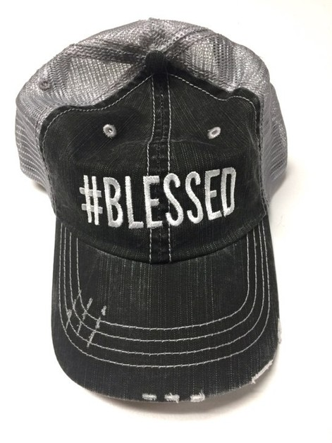 hashtag BLESSED Trucker Hat - orangeshine.com