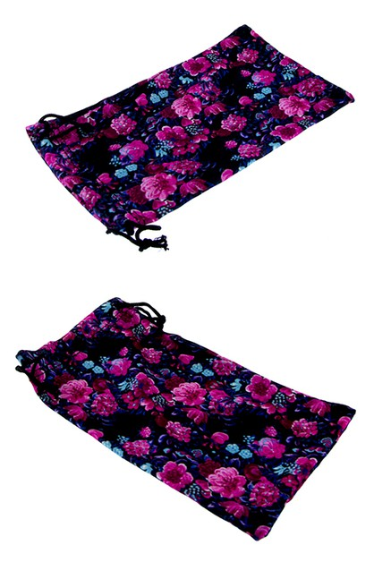 colorful soft floral pouch cases - orangeshine.com