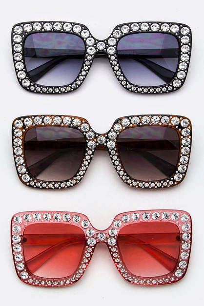 Pave Crystal Fashion Sunglasses - orangeshine.com