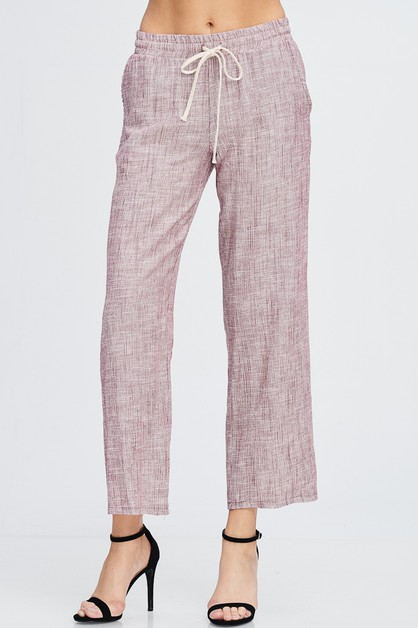 HAMPTONS LINEN LOUNGE PANTS - orangeshine.com