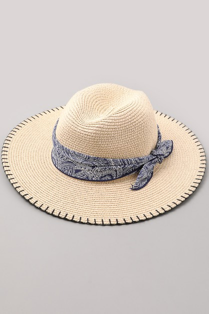 Bandana Wrapped Sun Hat - orangeshine.com