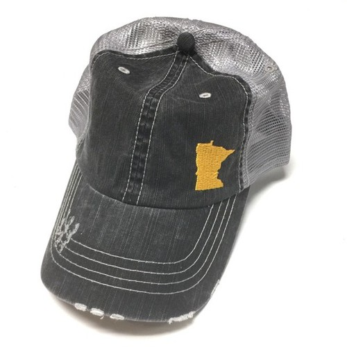 State of Minnesota on side in Gold - orangeshine.com
