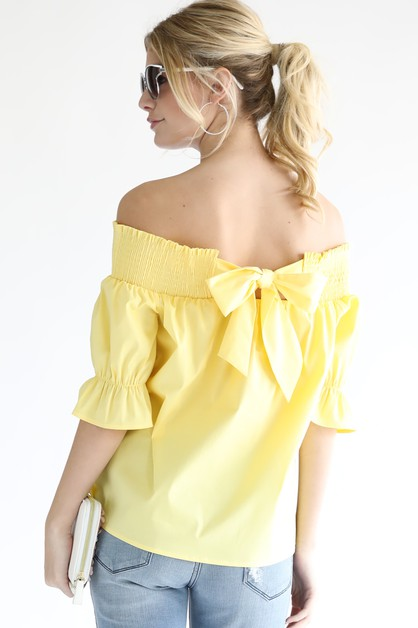 Crop Blouse with Bell Sleeves - orangeshine.com