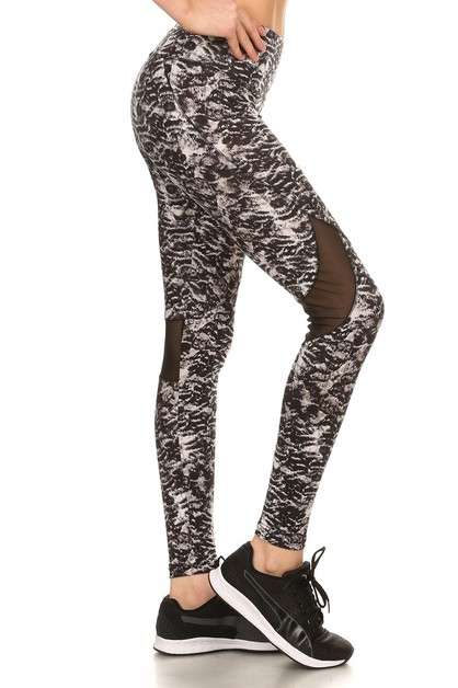 Mesh Sports Leggings Yoga Black Pant - orangeshine.com