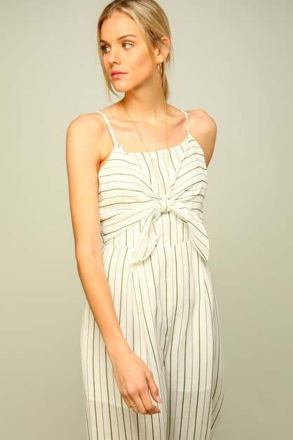 Sleeveless striped jumpsuit  - orangeshine.com